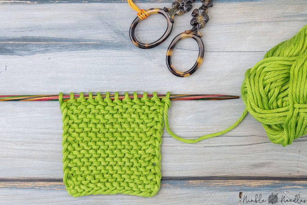garter stitch chain stitch selvage