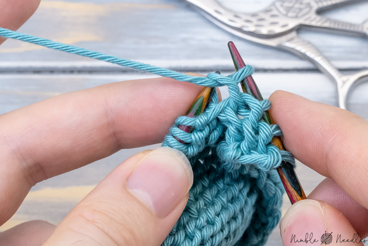 pulling through the working your through the lifted stitch and drop the extra loop