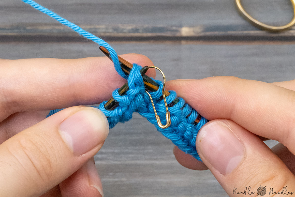 knitting a ssk directly after the stitch marker