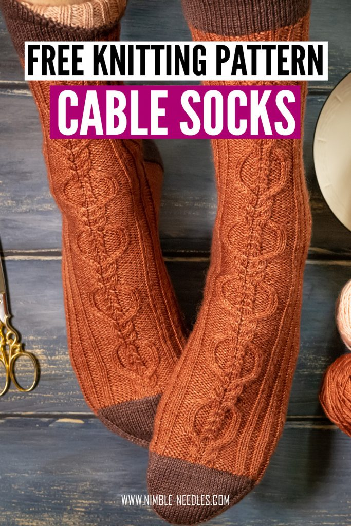 a free knitting patterns for cable socks for men