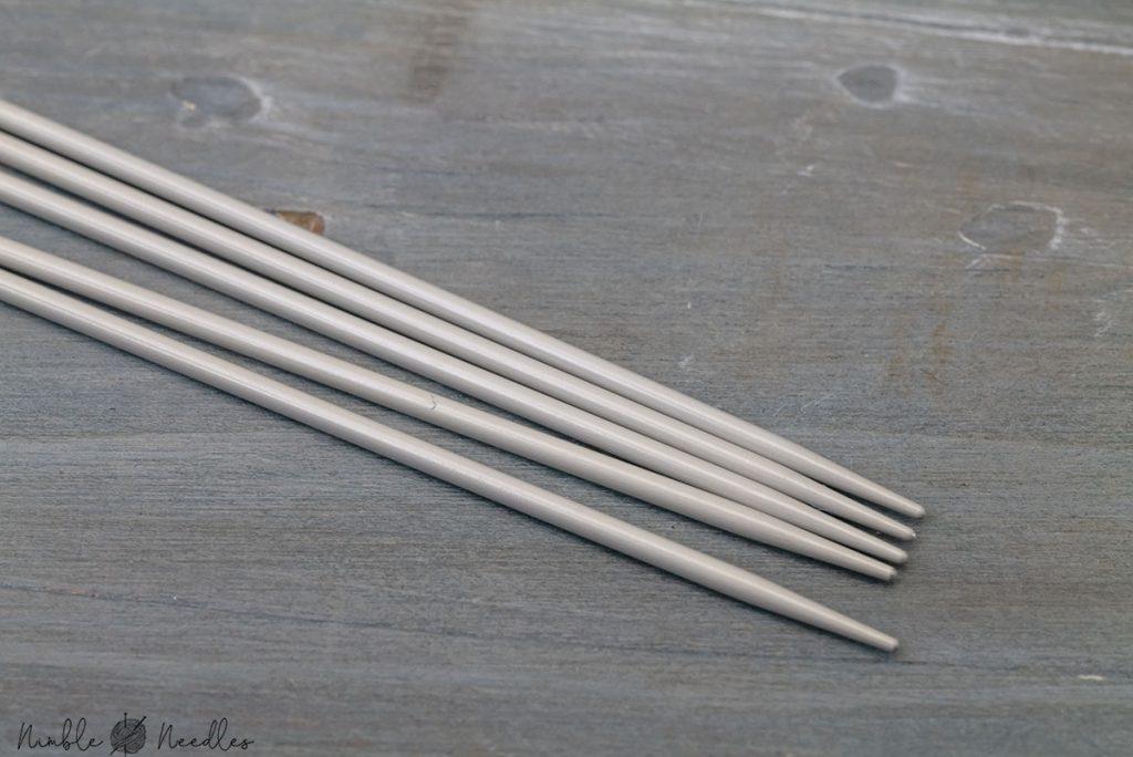 close-up of the tips of the prym aluminium dpns