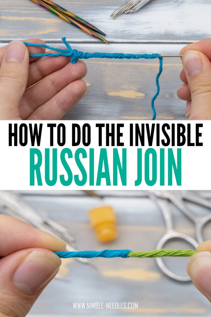 how to do the russian join in knitting - a step by step tutorial for beginners without knots and ends to weave in