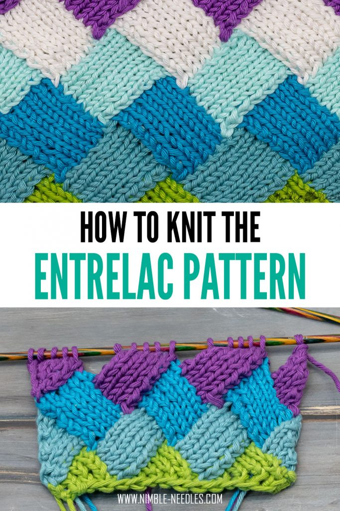 how to knit the entrelac pattern for beginners - step by step written instructions plus video