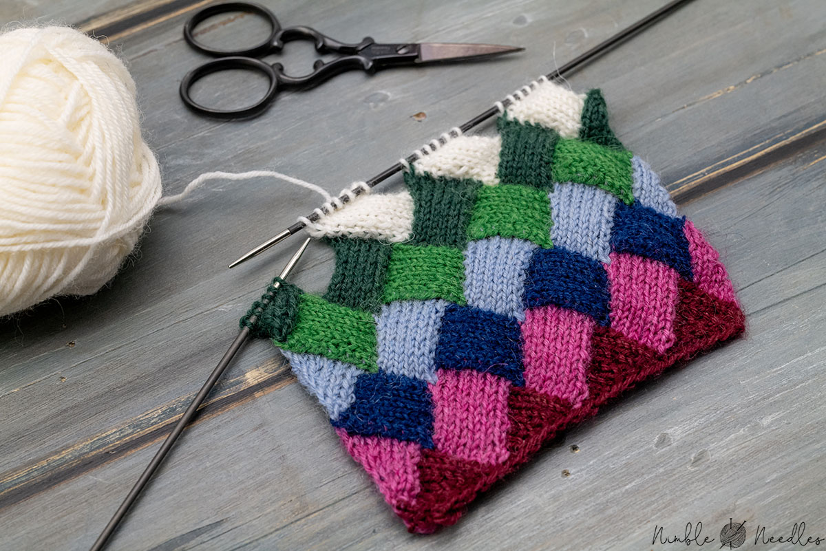 knitting the perfect little entrelac knitting pattern