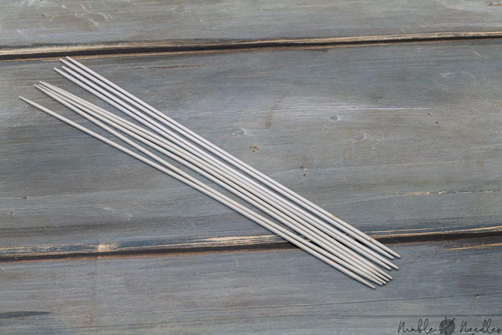 prym aluminium double pointed knitting needles