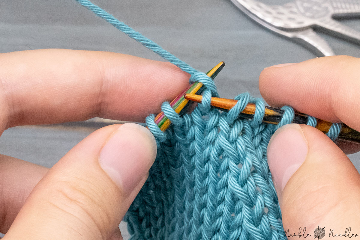 knitting one stitch as normal
