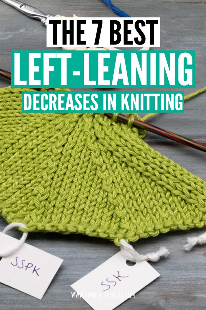the best left leaning knitting decreases - step by step