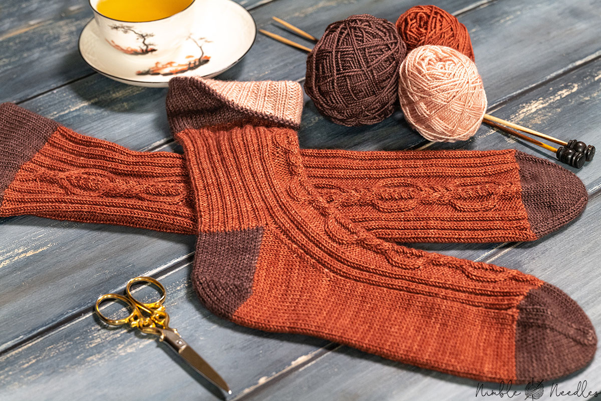 the free cable sock pattern hot of the knitting needles