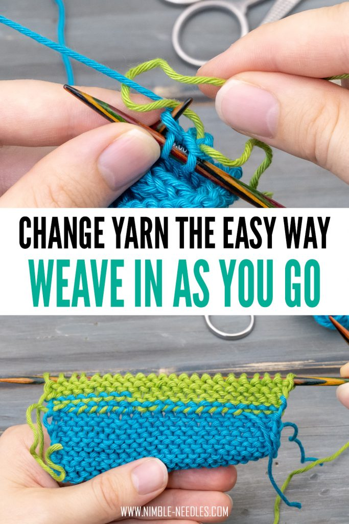weave in as you go the easy way - a step by step tutorial