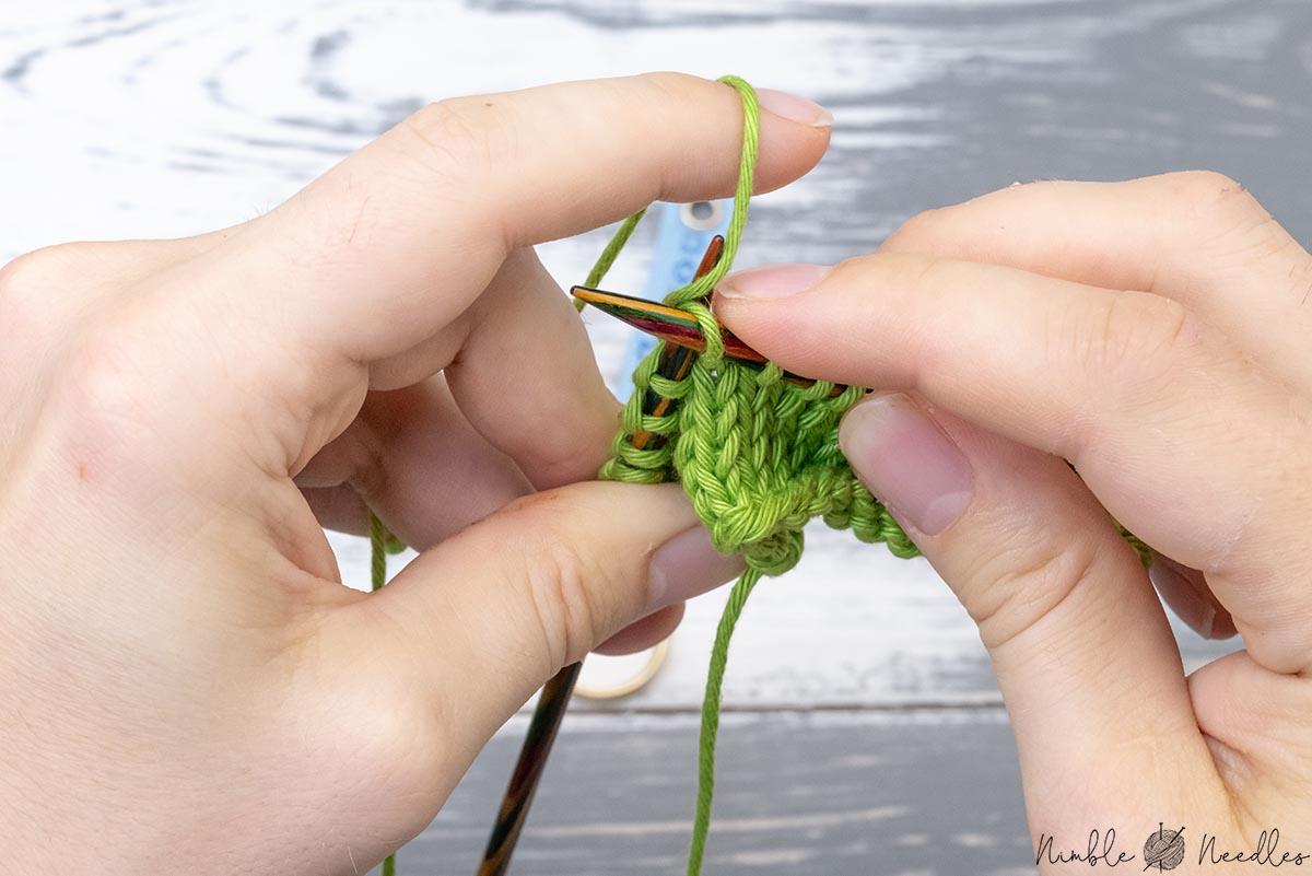 backwards knitting by flicking continental