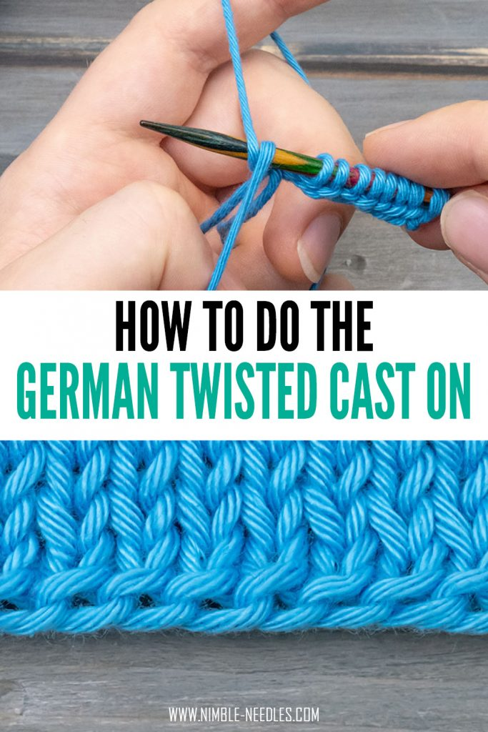 how to do the german twisted cast on step by step for beginners