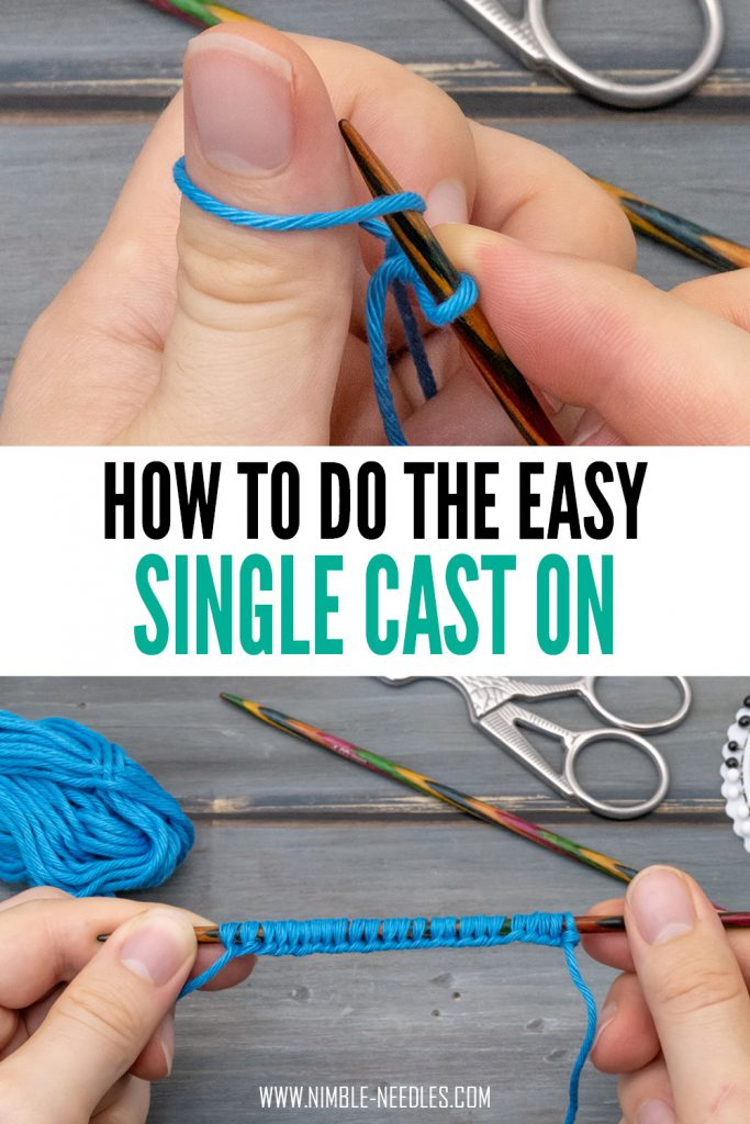 how to do the single cast on - easy method for beginners