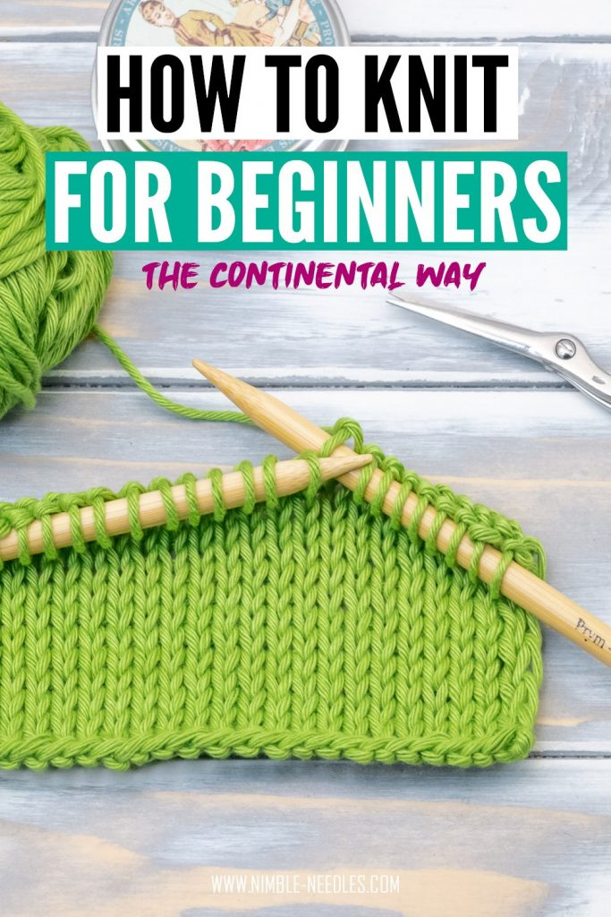how to knit for beginners the continental way - a step by step tutorial going slowly