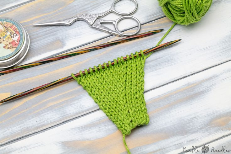 kll knit left loop is an almost invisible increase for stockinette stitch